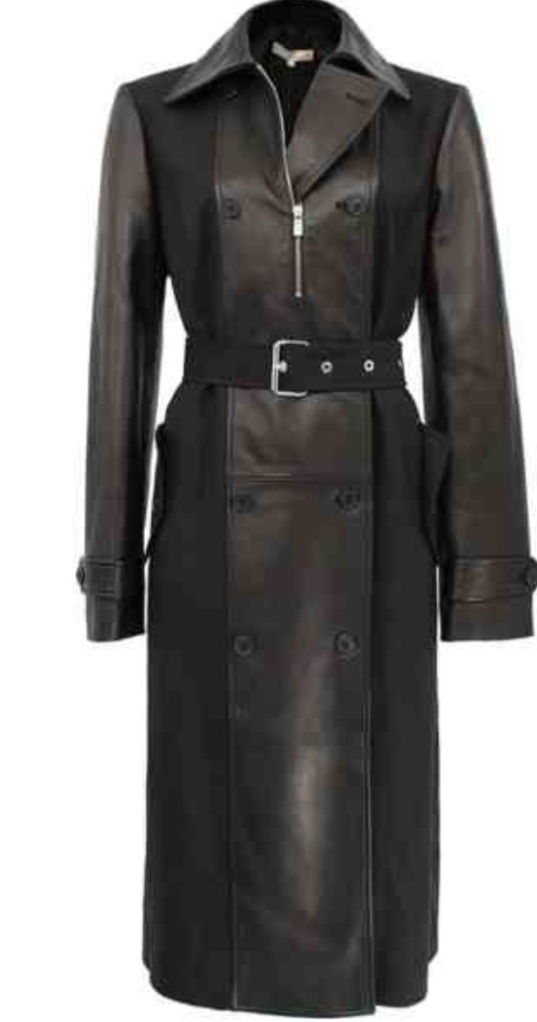 Michael Kors Plunge Contrast Trench